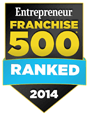 logo graphic of the Entrepreneur magazine Franchise 500 ranking for 2014