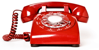 a rotary dial telephone from the mid 20th century