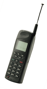 a mobile phone from the early 2000s