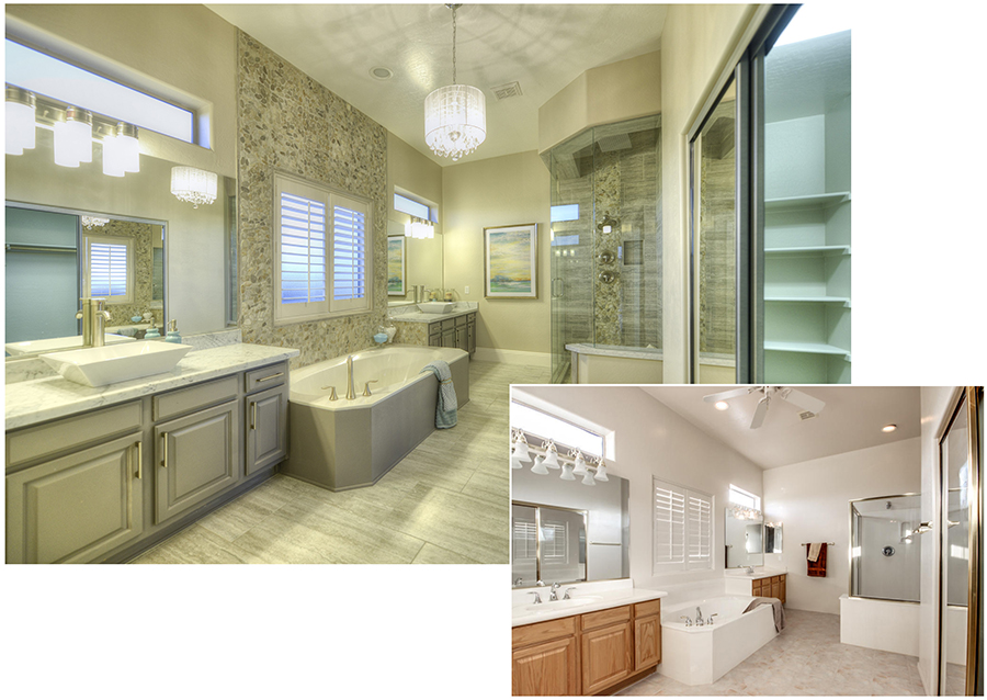 Bathroom remodel by  Encore Group