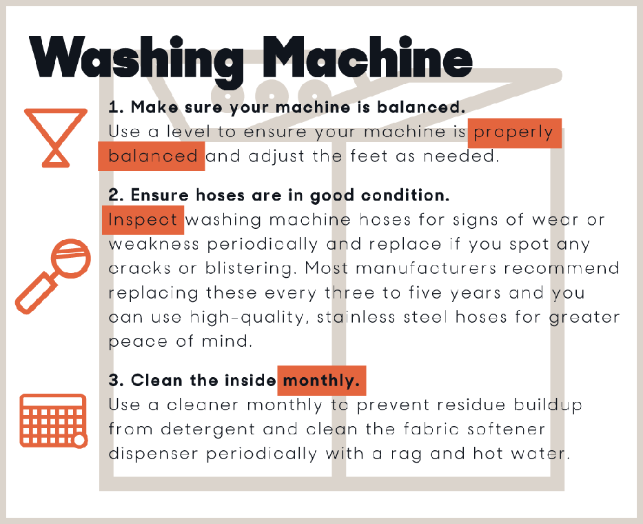 washing machine maintenance