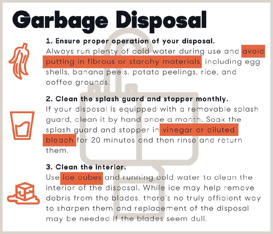 garbage disposal maintenance