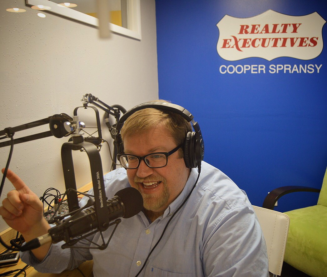 Neil Mathweg doing his Onion Juice podcast
