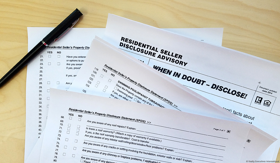 home seller disclosures