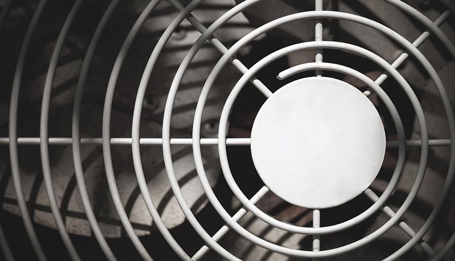 close up of air compressor