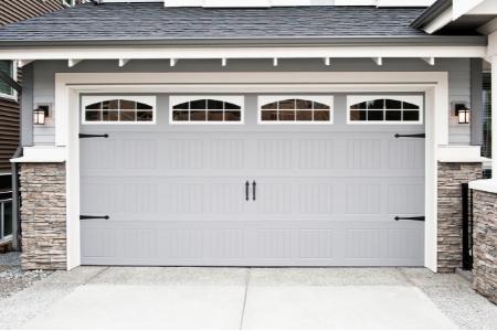 gray decorative garage door
