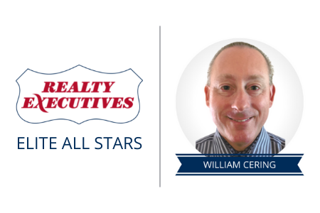 Realty Executives Elite All Stars logo next to Broker/Owner William Cering.