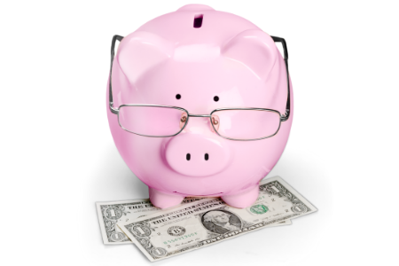 A piggy bank symbolizing the need to boost your bank account after buying a home.