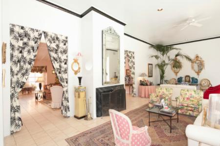a granny chic designed living room